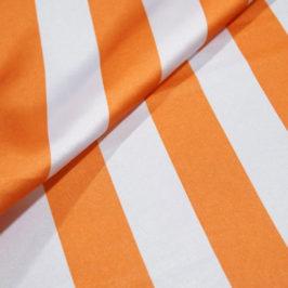 Satin Stripe Orange/White