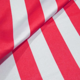 Satin Stripe Red/White