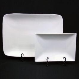 Tray,  White China