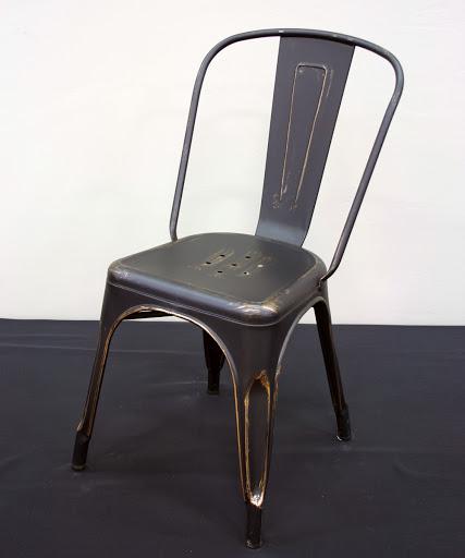 School House Black/Gold Chair