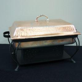 Chafing Dish, Hammer Copper Rectangular