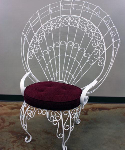 Quincenera White Metal Chair
