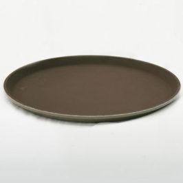 Serving Tray, 14″ Round Brown